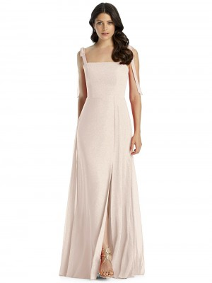 5c777378069f9 Dessy 3042LS Tie Strap Bridesmaid Dress