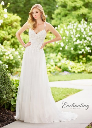 Enchanting by Mon Cheri 118131 Dual Strap Destination Wedding Dress
