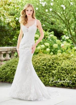 Enchanting by Mon Cheri 118132 V-Back Destination Wedding Dress