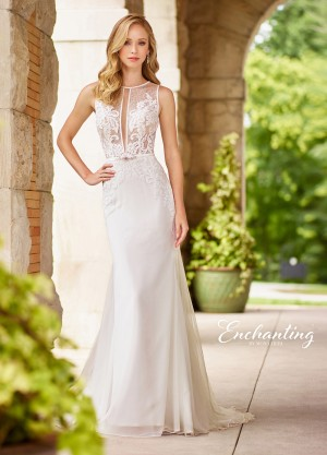 Enchanting by Mon Cheri 118134 Keyhole Neckline Destination Wedding Dress