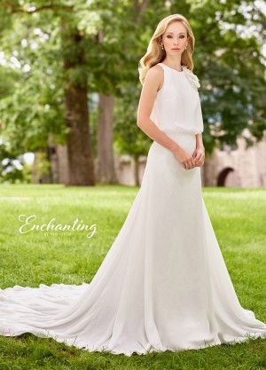 Enchanting by Mon Cheri 118135 Blouson Silhouette Destination Wedding Dress
