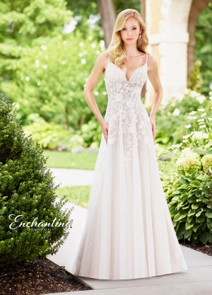 Enchanting by Mon Cheri 118136 A-line Beach Wedding Dress