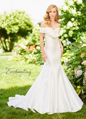 Enchanting by Mon Cheri 118139 Off-The-Shoulder Beach Wedding Dress