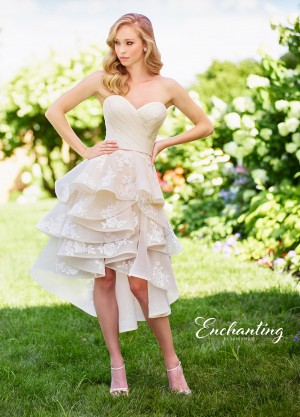 Enchanting by Mon Cheri 118141 High-Low Casual Wedding Dress