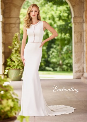 Enchanting by Mon Cheri 118142 Plunging V-Back Casual Wedding Dress