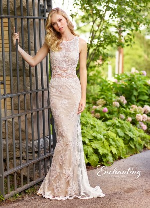 Enchanting by Mon Cheri 118144 Allover Lace Casual Wedding Dress