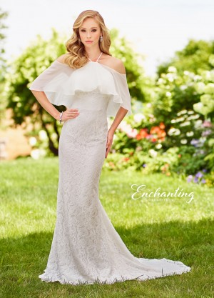 Enchanting by Mon Cheri 118145 Flounce Casual Wedding Dress