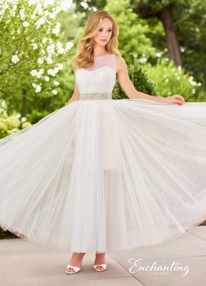 Enchanting by Mon Cheri 118147 One-Shoulder Destination Wedding Gown