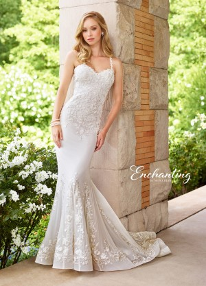 Enchanting by Mon Cheri 118152 Crisscross Back Beach Wedding Gown