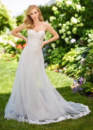 Enchanting by Mon Cheri 118154 Strapless Beach Wedding Gown