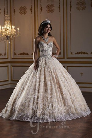fc59f03fd7548 House of Wu 56375 Strapless Sweetheart Neck Quinceanera Dress