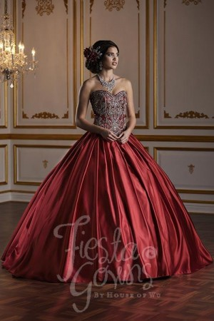 a73890d5cf7 House of Wu 56376 Pleated Skirt Quinceanera Dress