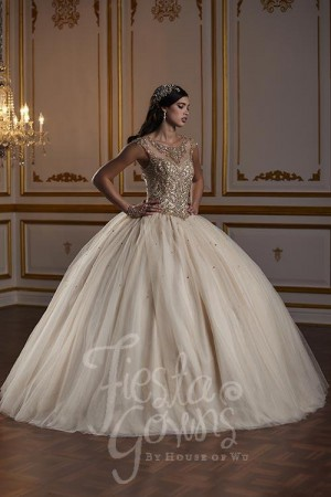 bac11eb6e19 House of Wu 56380 Illusion Neckline Quinceanera Gown