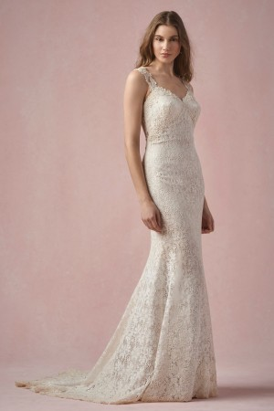 Willowby Maci 55129 Dress Bellisima Lace Fit And Flare Sweetheart Bust