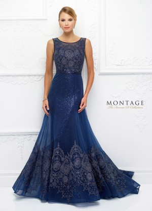Ivonne D Exclusively for Mon Cheri 118D14 A-line Formal Dress with Detachable Sleeves