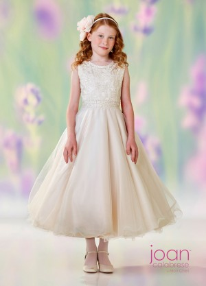 Joan Calabrese 118302 Jewel Neckline First Communion Dress