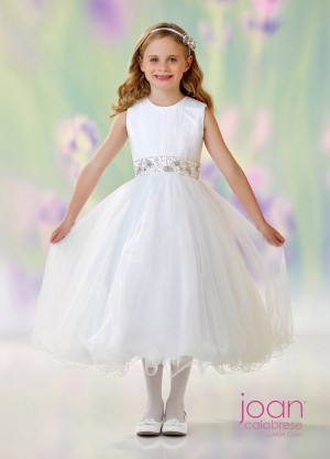 Joan Calabrese 118303 Belted Flower Girl Dress