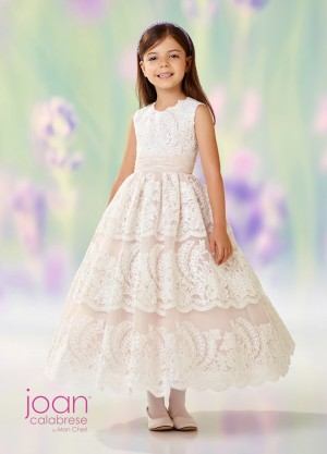 Joan Calabrese 118309 Lace Flower Girl Dress