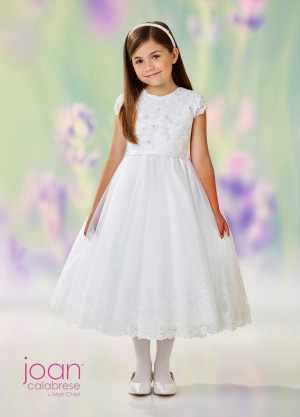 Joan Calabrese 118311 Lace Back Flower Girl Dress