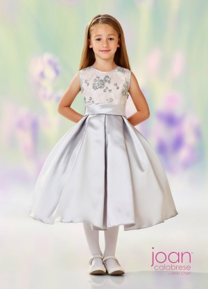 Joan Calabrese 118313 Pleated Skirt Flower Girl Dress