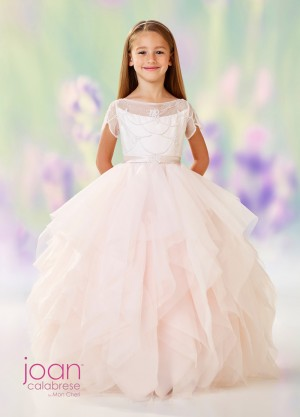 Joan Calabrese 118315 Short Sleeves Flower Girl Dress