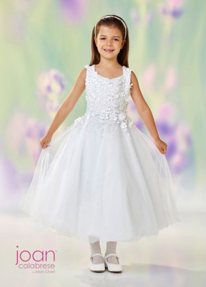 Joan Calabrese 118321 Square Neckline Flower Girl Dress