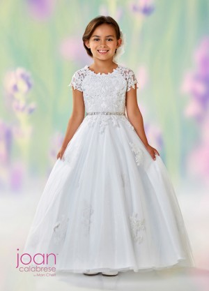 Joan Calabrese 118326 Open V-Back First Communion Dress