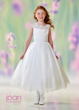 Joan Calabrese 118327 Cap Sleeves Flower Girl Dress