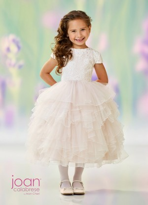 Joan Calabrese 118329 Tiered Skirt Flower Girl Dress