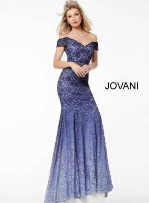 Jovani 40089 Ombre Lace Evening Dress