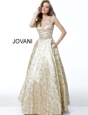 Jovani 58653 A-line With Belt Evening Gown