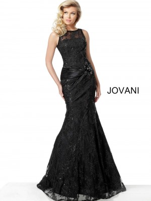 559242460d2 Jovani 62831 Embroidered Trumpet-Style Evening Gown