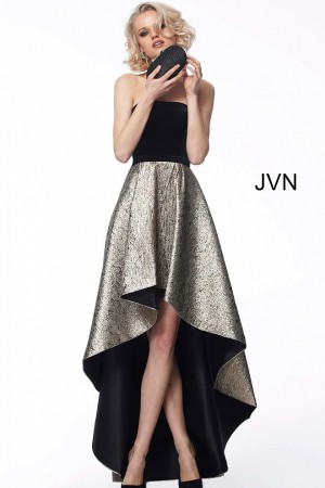 587cf6300d9b3 Jovani JVN60886 Hi-Low Skirt Evening Gown