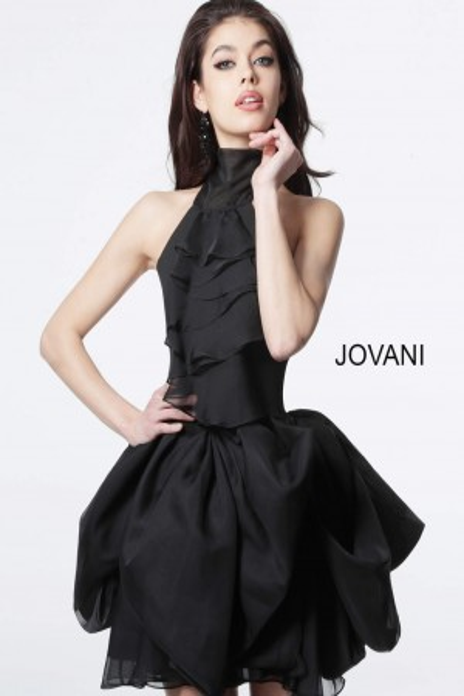ea03ad96a1eb Jovani M1878 Halter Neck Homecoming Dress