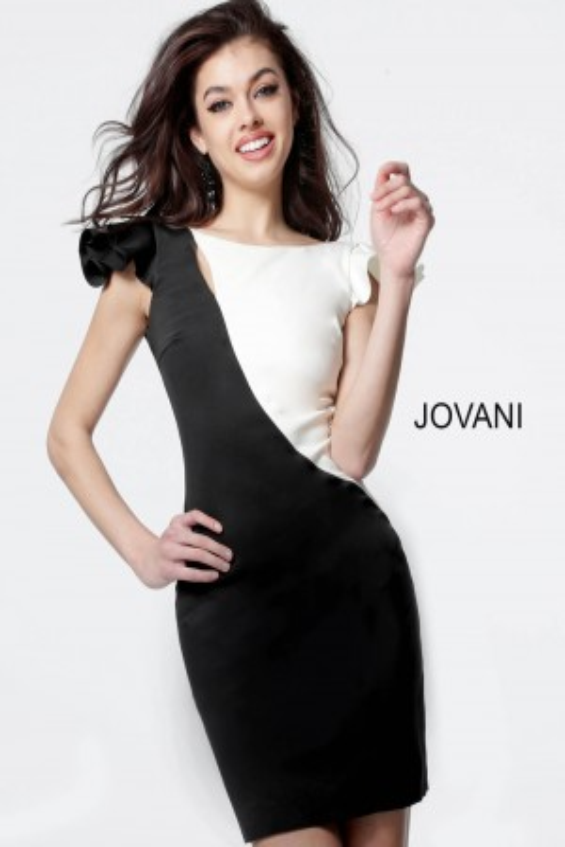 56bf1a1707 Jovani M68415 Color Block Short Dress