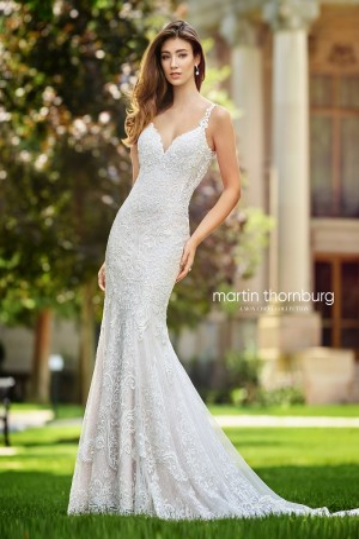 Martin Thornburg for Mon Cheri 118259 Talea Illusion Back Bridal Dress