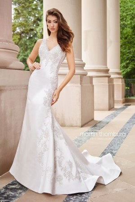 Martin Thornburg for Mon Cheri 118262 Cadenza Lace Back Wedding Dress