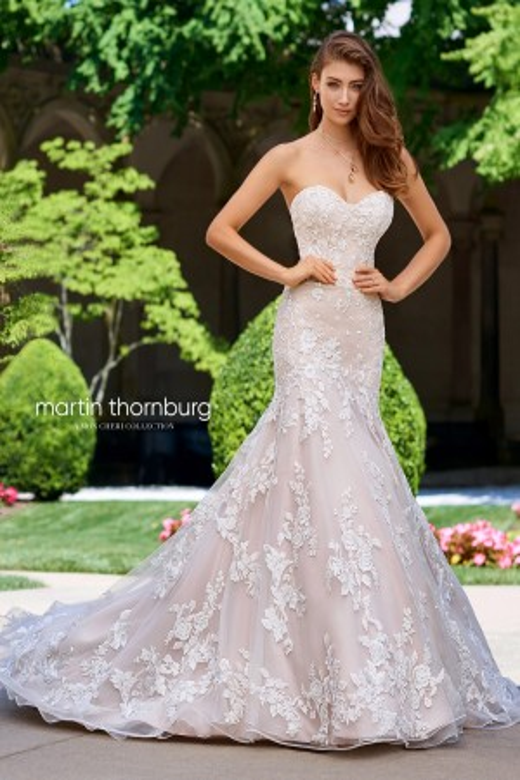 Martin Thornburg for Mon Cheri 118272 Fermata Trumpet Silhouette Bridal Gown