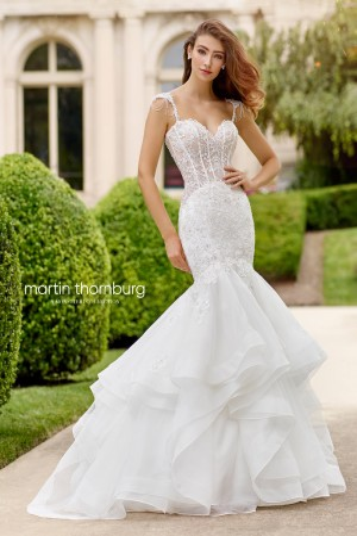 Martin Thornburg for Mon Cheri 118279 Cantata Corset Bodice Wedding Gown