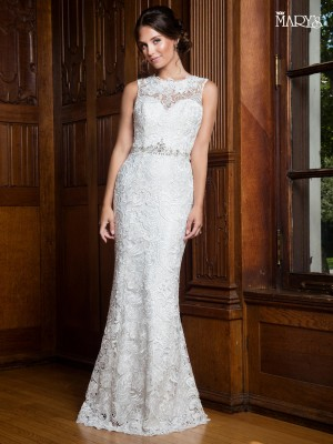 Simple casual and informal wedding dresses marys bridal mb1012 fitted lace bridal gown junglespirit Choice Image