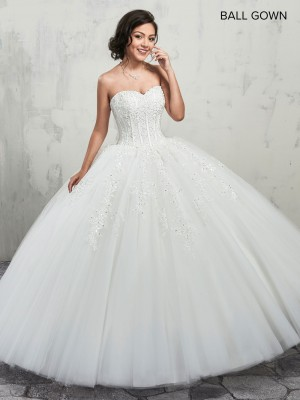 Marys Bridal MB6001 Strapless Sweetheart Quinceanera Dress
