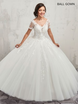 Marys Bridal MB6013 Short Sleeves Quince Dress