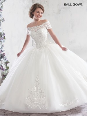 Marys Bridal MB6017 Off Shoulder Quince Gown