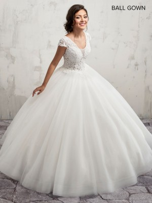 Marys Bridal MB6018 Cap Sleeves Quince Gown