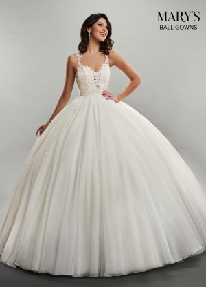 cd20730004e3 Marys Bridal MB6046 Lace Bodice Quinceanera Dress