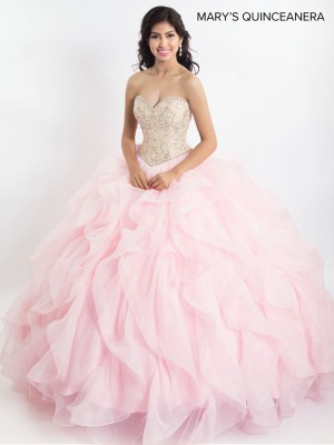 Marys Bridal MQ2023 Strapless Sweetheart Quinceanera Gown