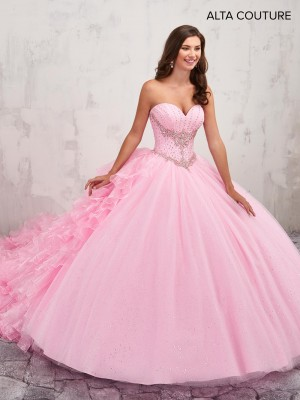 Marys Bridal MQ3007 Strapless Sweetheart Quinceanera Gown with Ruffle Train