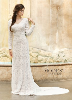 Modest Bridal by Mon Cheri TR11831 Long-Sleeve Wedding Dress