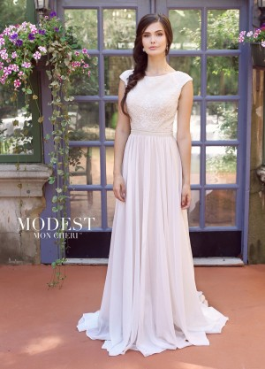 Modest Bridal by Mon Cheri TR11841 Cap-Sleeve Bridal Dress