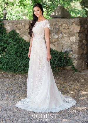 Modest Bridal By Mon Cheri Tr11985 Erfly Sleeve Wedding Dress